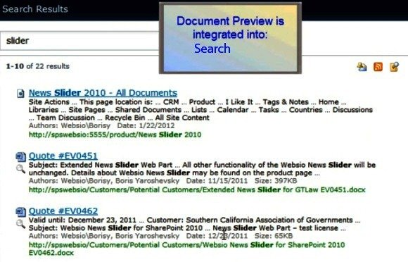 SharePoint Document Search