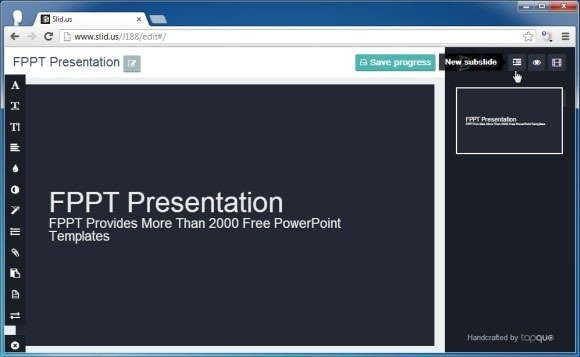 Create, Edit And Share Animated Presentations Online With Slidus