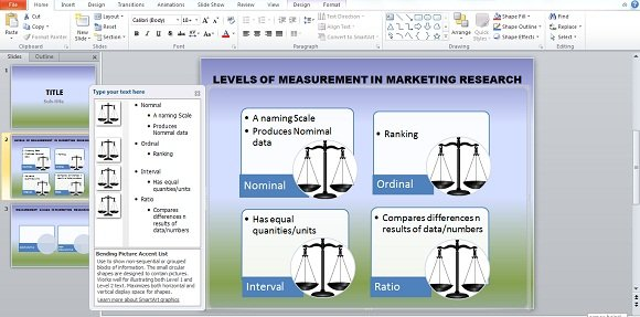 Using Bending Picture Accent List SmartArt in PowerPoint Presentations