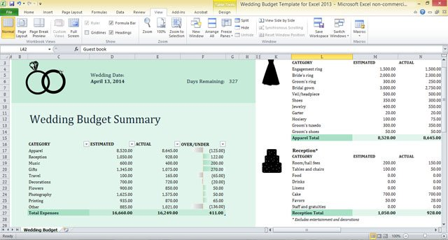 wedding budget template for excel 2013 12jpg