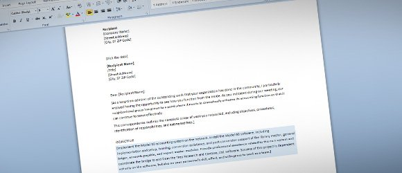 Free Business Proposal Template For Word  Free Business Proposal Letter