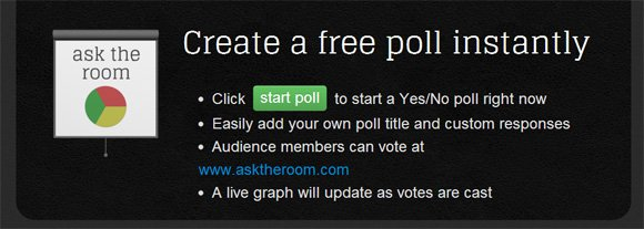 Using Ask the Room to get Feedback from a Presentation Audience