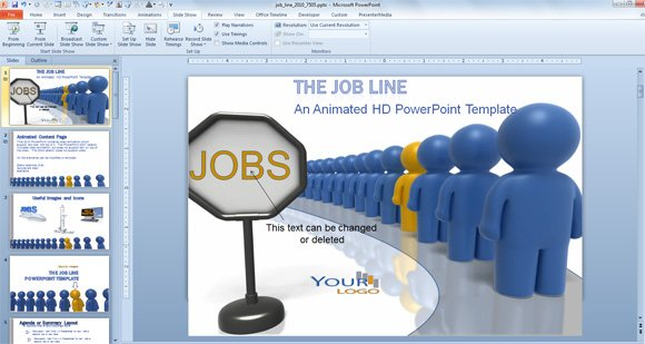 animated powerpoint templates for employee recognition and job, Modern powerpoint