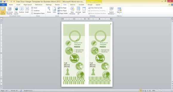 door hanger template for word free koni polycode co