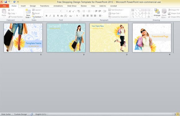 free shopping design template for powerpoint 2013 1