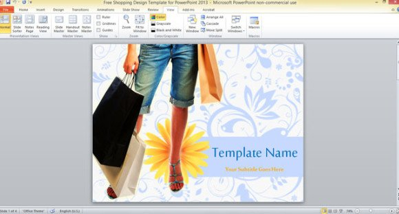 free shopping design template for powerpoint 2013, Modern powerpoint