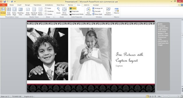 Free Wedding Photo Album Template For Powerpoint 2013 2 Fppt