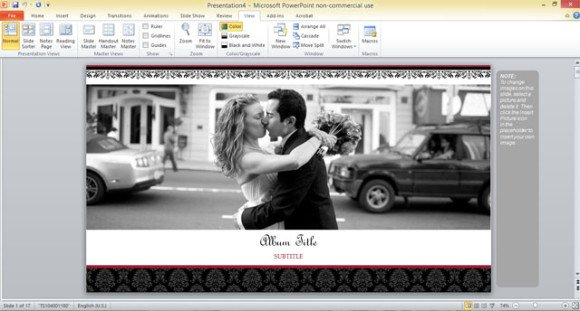 Free Wedding Photo Album Template For Powerpoint 2013  Free Album Templates