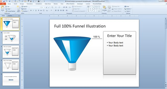 Free 3D Funnel Diagram Template for PowerPoint Presentations