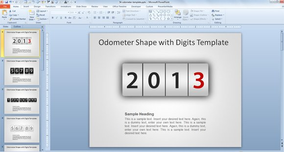 speedometer powerpoint