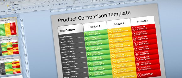 free product comparison template for powerpoint presentations, Modern powerpoint