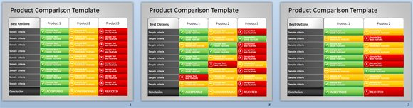 product comparison ppt template free download