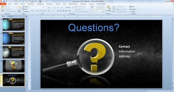 slide in a powerpoint presentation, Modern powerpoint
