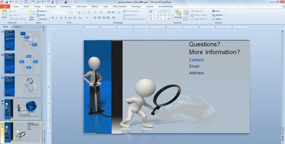 last slide in a powerpoint presentation, Modern powerpoint