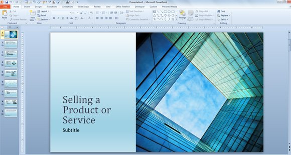 Business Sales Template For Powerpoint Presentations