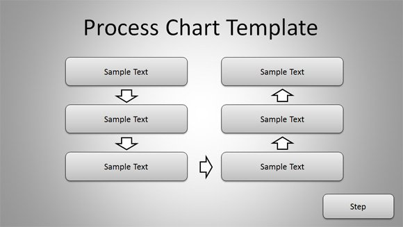 Simple Process Chart Template For Powerpoint Presentations
