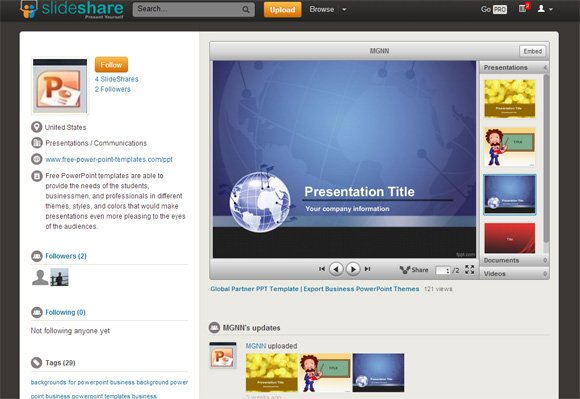 free presentation templates for slideshare