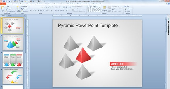 free 3d pyramid template for powerpoint presentations, Modern powerpoint