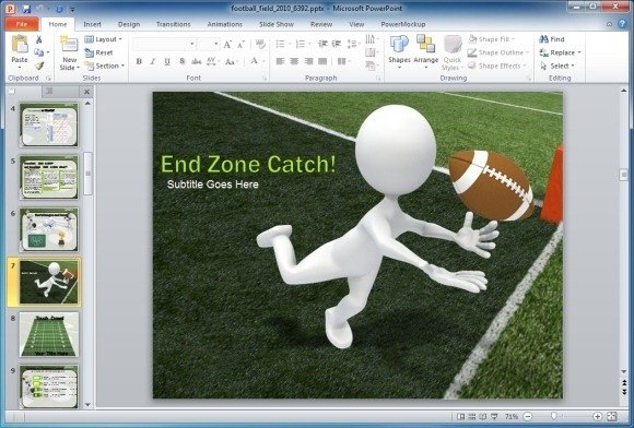 Animated football field powerpoint template animated footbal field template toneelgroepblik Images