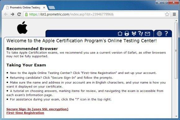 mac os x certification exam