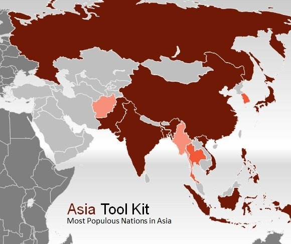 Map Of Asia Template.Asia Map Template For Powerpoint Presentations