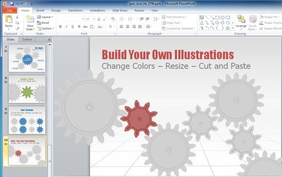 Gears toolkit and templates for powerpoint presentations build animated gear illustrations toneelgroepblik Choice Image