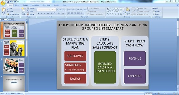 Using powerpoint diagrams for making effective business plans effective business plan toneelgroepblik Choice Image