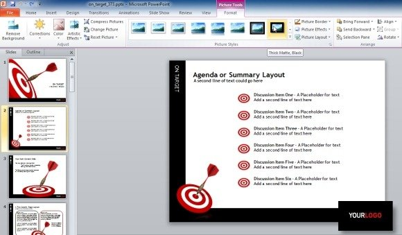 Target darts template for powerpoint presentations edit template toneelgroepblik