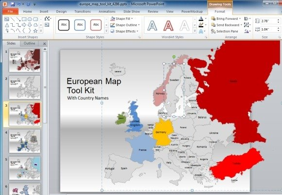 Map template for powerpoint presentations create animated presentations with maps of european countries gumiabroncs Image collections