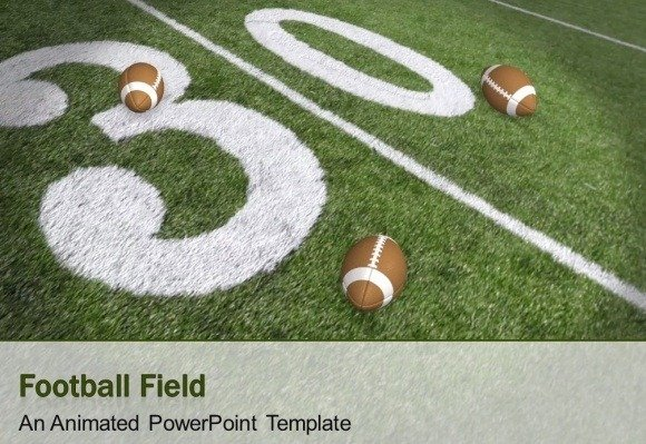 Animated Football Field Powerpoint Template