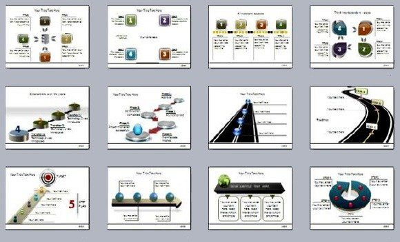 301 Mega Pack Provides Animated Powerpoint Diagram Templates