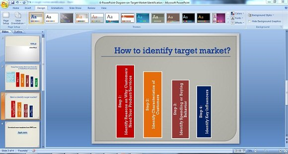 how to make a good powerpoint diagram on target market identification ppt on target market identification2