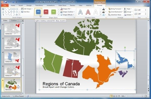 powerpoint 2013 template location - canada map template for powerpoint presentations