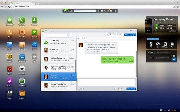 Send And Receive SMS Using The Big Screen