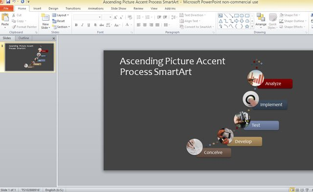 Business process template for powerpoint 2013 using smartart graphics accmission Images
