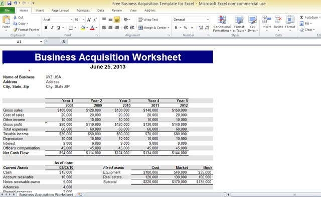 Db business verification template for excel free business acquisition template for excel wajeb Choice Image