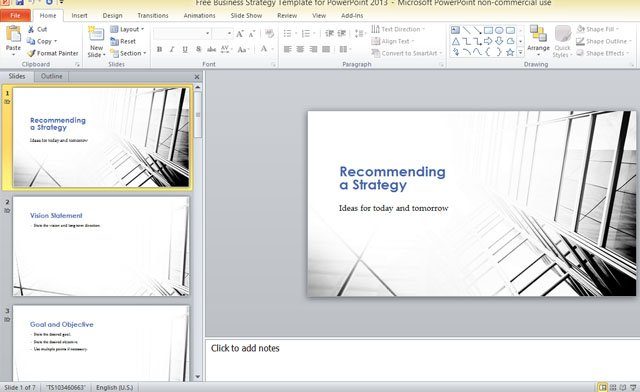 Free business strategy template for powerpoint 2013 toneelgroepblik Choice Image