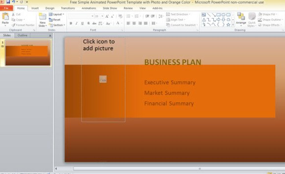 free-simple-animated-powerpoint-template-with-photo-and-orange-color-3