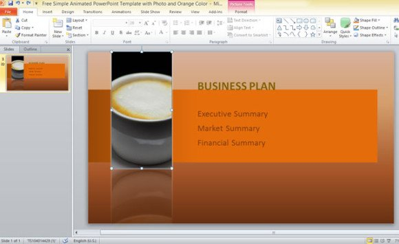 free-simple-animated-powerpoint-template-with-photo-and-orange-color-4