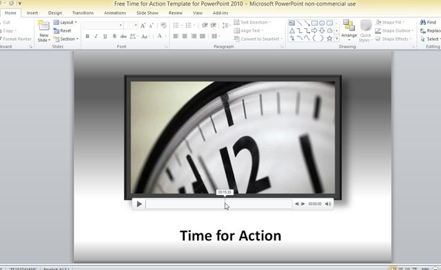 free time for action template for powerpoint 2010, Powerpoint templates