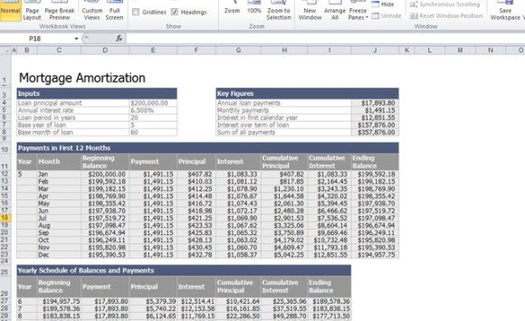 home mortgage calculator template for excel 2