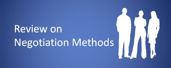 review on negotiation methods