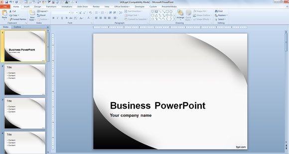 What is the recommended powerpoint template size toneelgroepblik