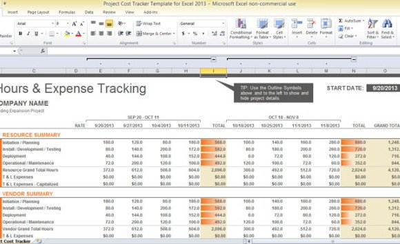 Project cost tracker template for excel 2013 project cost tracker template for excel 2013 4 accmission Image collections