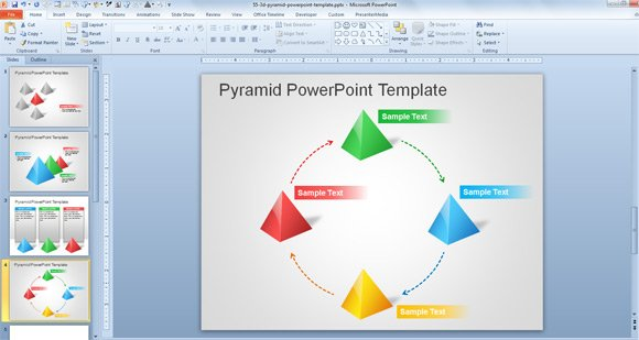 Free 3d pyramid template for powerpoint presentations for Microsoft kb article template