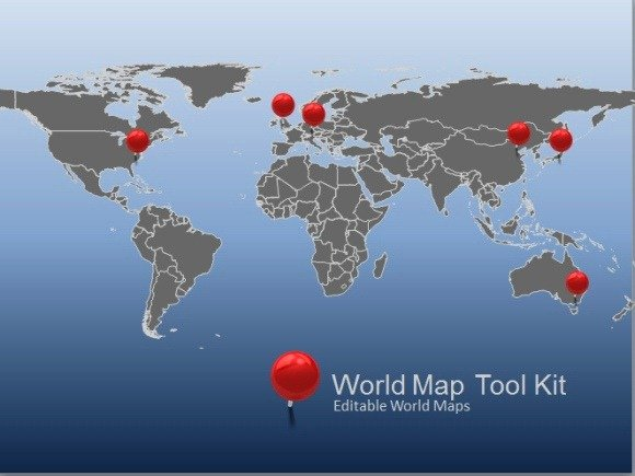 Powerpoint Global Map.Animated World Map Toolkit For Powerpoint
