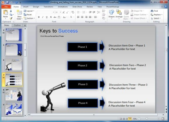 add key points for a business presentation with avatar using a telescope
