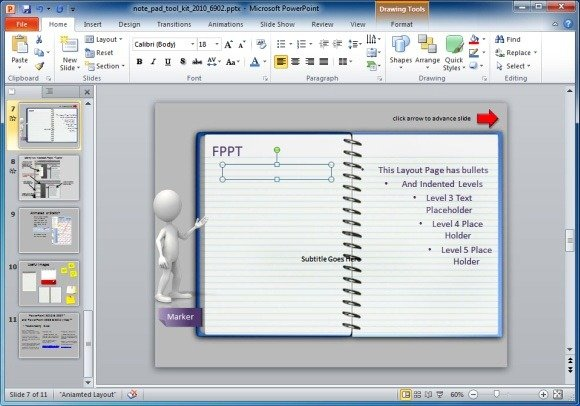 Animated notepad page turn effect for powerpoint presentations create presentations with the animated page turning effect toneelgroepblik Images