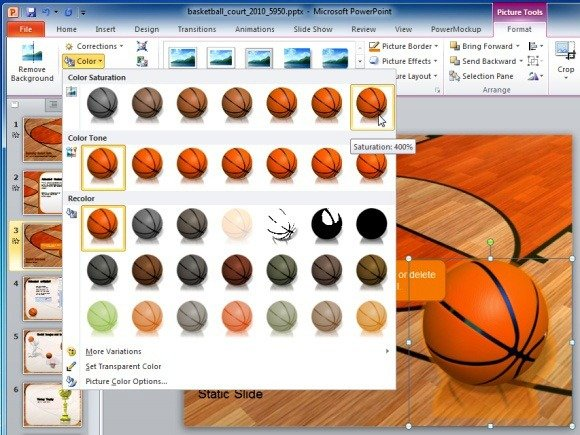 Edit Animated Basketball PowerPoint Template