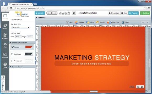 create presentations in html5 with ewc presenter, Presentation templates